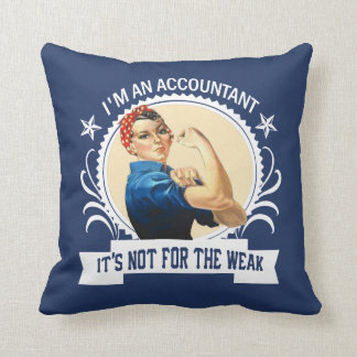 Accountant - Not for the weak Throw Pillow