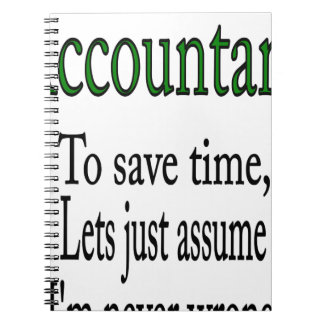 ACCOUNTANT NOTEBOOK
