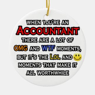 Accountant ... OMG WTF LOL Ceramic Ornament