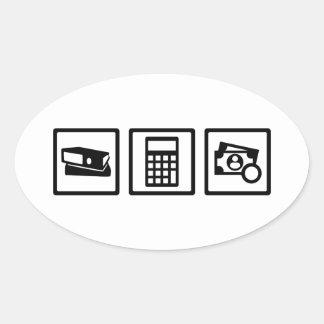 Accountant Oval Sticker