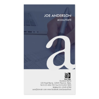 Accountant Paperwork Bold Monogram Business Card