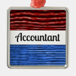 Accountant Patriotic Christmas Ornament