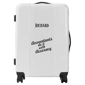 Accountant Personalized Luggage