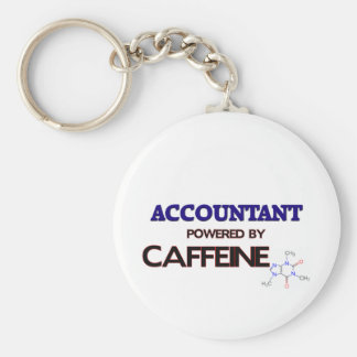 Accountant Powered by caffeine Keychain