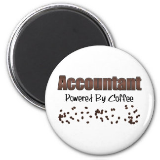Accountant Powered By Coffee 2 Inch Round Magnet