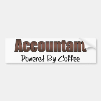 Accountant Powered By Coffee Bumper Sticker