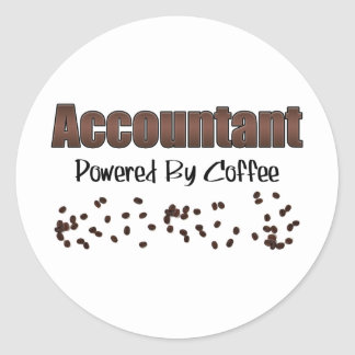 Accountant Powered By Coffee Sticker