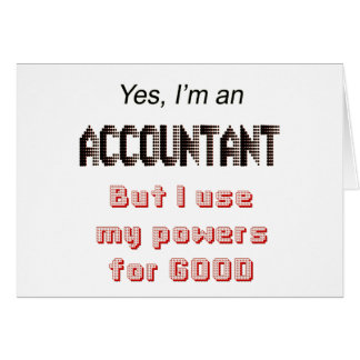 Accountant Powers Funny Office Humor Saying Card