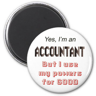 Accountant Powers Funny Office Humor Saying Magnet