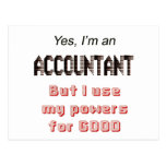 Accountant Powers Funny Office Humor Saying Post Card