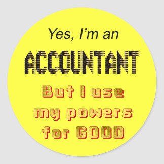Accountant Powers Funny Office Humor Stickers