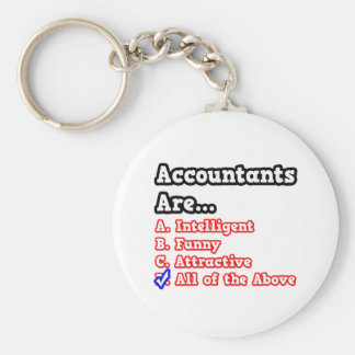 Accountant Quiz...Joke Basic Round Button Keychain