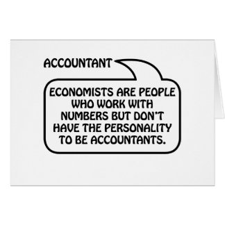 Accountant Quote Bubble Greeting Card