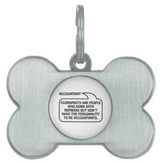 Accountant Quote Bubble Pet ID Tag