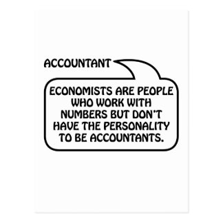 Accountant Quote Bubble Postcard