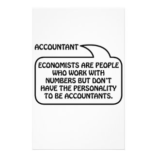 Accountant Quote Bubble Stationery