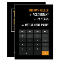 Accountant Retirement Party Card
