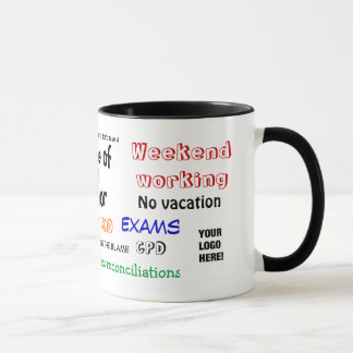 Accountant sense of humor?! Add Your Logo Mug