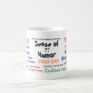 Accountant sense of humor?! classic white coffee mug