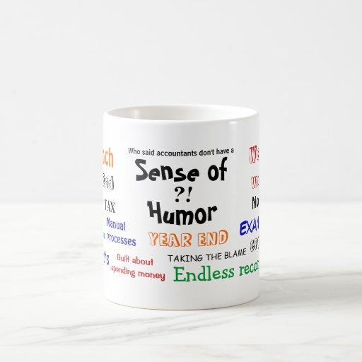 Accountant sense of humor?! coffee mugs
