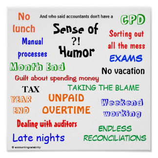 Accountant Sense of Humor Poster