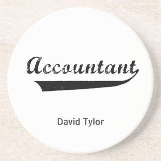 Accountant Sports Style Text Coaster