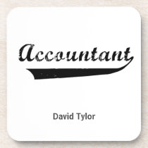 Accountant Sports Style Text Drink Coaster
