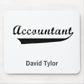 Accountant Sports Style Text Mouse Pad