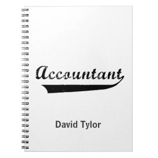 Accountant Sports Style Text Notebook