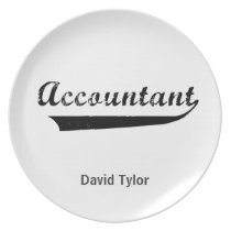 Accountant Sports Style Text Plate