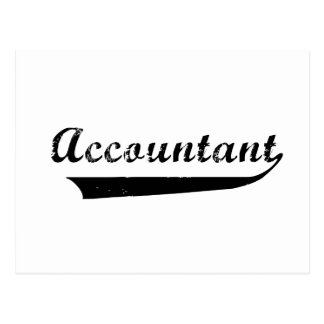Accountant Sports Style Text Post Card