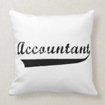 Accountant Sports Style Text Throw Pillow