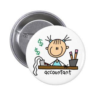 Accountant Stick Figure Button