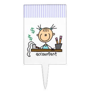 Accountant Stick Figure Cake Topper