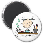 Accountant Stick Figure Magnet