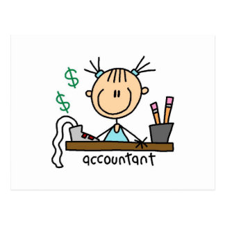 Accountant Stick Figure Postcard