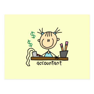 Accountant Stick Figure Postcard