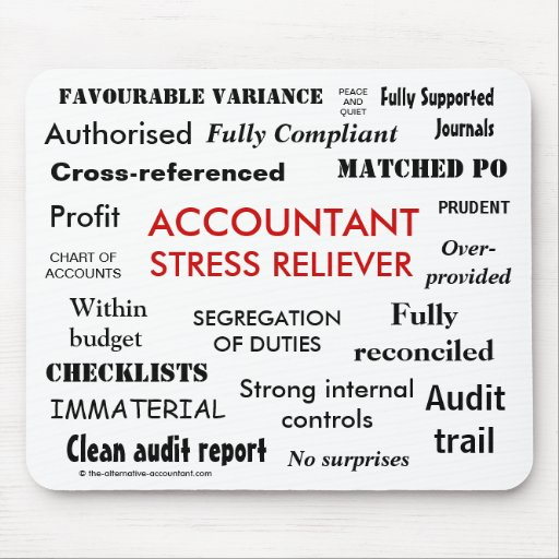Accountant Stress Reliever - Stress Manager Mousemat