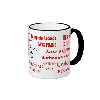 Accountant Swear Words! Accountant Prank Ringer Coffee Mug