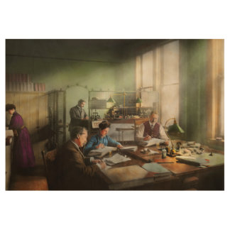 Accountant - The- Bookkeeping dept 1902 Wood Poster