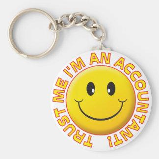 Accountant Trust Me Basic Round Button Keychain