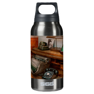 Accountant - Typewriter - The accountants office Insulated Water Bottle