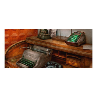 Accountant - Typewriter - The accountants office Rack Card