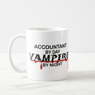 Accountant Vampire by Night Coffee Mug
