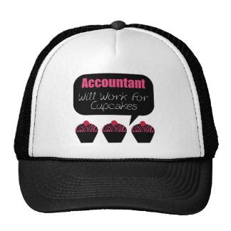 Accountant, Will Work For Cupcakes Trucker Hat