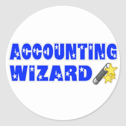 Accountant Wizard Classic Round Sticker