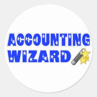 Accountant Wizard Stickers