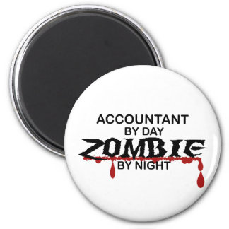 Accountant Zombie 2 Inch Round Magnet
