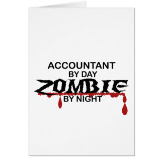 Accountant Zombie Card