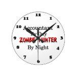 Accountant/Zombie Hunter Round Clock